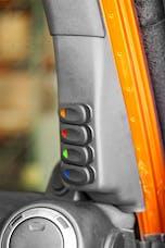 Outland Automotive 391723587 A-Pillar 4 Switch Pod Kit Black Right Hand Drive