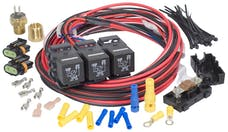 Painless 30116 Dual Activation/Dual Fan Relay Kit (on 195; off 185)