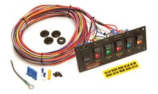 Painless 50406 6-Switch Lighted Non-Fused Rocker Switch Panel w/wiring