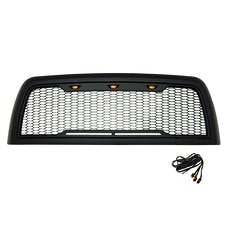 Paramount Automotive 41-0175MB Impulse Mesh Packaged Grille, Matte Black, with Amber LEDs
