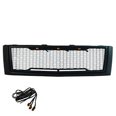 Paramount Automotive 41-0177MB Impulse Mesh Packaged Grille, Matte Black with Amber LEDs