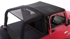 Rampage Products 94301 Combo Sun Brief & Safari Top Black Mesh