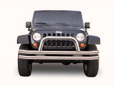 Rampage Products 86620 Front Double Tube Bumper Black