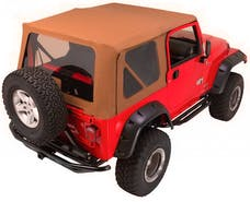 Rampage Products 68836 Complete Soft Top Kit Khaki