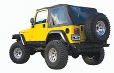 Rampage Products 109535 Frameless Trail Top - Jeep Black Diamond