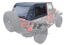 Rampage Products 106135 Frameless Trail Top - Jeep Black