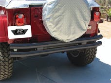 Rampage Products 7649 Double Tube Bumper Black