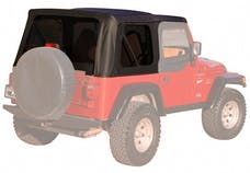 Rampage Products 99315 Factory Replacement Soft Top-Jeep Black Denim