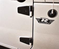Rampage Products 87641 Door Hinges Black
