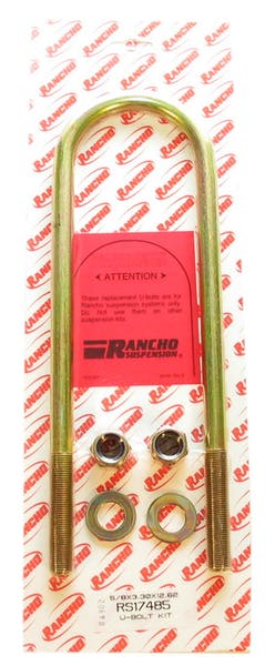 Rancho RS17485 U-Bolt Kit with Hardware