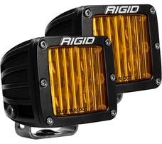 RIGID Industries 504814 D-Series Pro Dot/SAE J583 Fog Light Selective Yellow Surface Mount, Pair