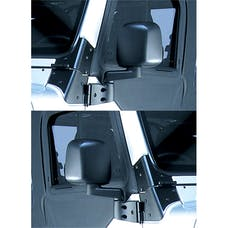 Rugged Ridge 11002.09 Door Mirror Kit; Black; 87-06 Jeep Wrangler