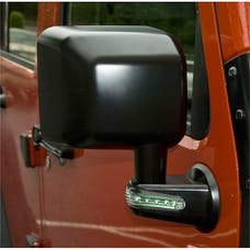 Rugged Ridge 11002.14 Door Mirror with LED Signals; Black; Right; 07-17 Jeep Wrangler JK