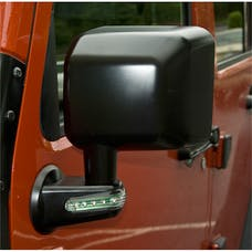 Rugged Ridge 11002.15 Door Mirror with LED Signals; Black; Left; 07-17 Jeep Wrangler JK