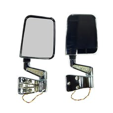 Rugged Ridge 11016.01 Door Mirror Kit; LED Turn Signals; Chrome; 87-02 Jeep Wrangler
