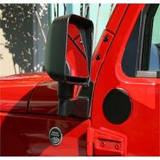 Rugged Ridge 11025.04 Mirror Relocation Brackets; Black; 07-17 Jeep Wrangler JK