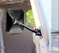 Rugged Ridge 11025.12 Quick Release Mirrors; Pair; Black; Rectangular; 97-17 Jeep Wrangler
