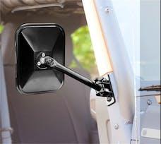 Rugged Ridge 11025.13 Quick Release Side Mirror; Black; Rectangular; 97-17 Jeep Wrangler