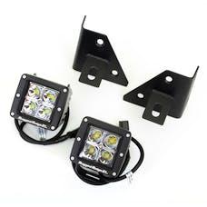 Rugged Ridge 11027.12 Windshield Bracket LED Kit, Black, Square