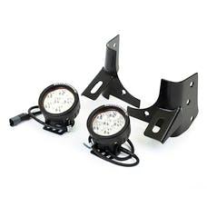 Rugged Ridge 11027.13 Windshield Bracket LED Kit, Black, Round