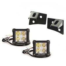 Rugged Ridge 11027.18 Windshield Bracket LED Kit; Dual Cube; 07-17 Jeep Wrangler JK