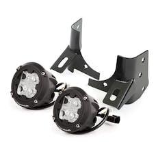 Rugged Ridge 11027.19 Windshield Bracket LED Kit; Round Cube; 97-06 Jeep Wrangler TJ