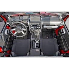 Rugged Ridge 11151.92 Interior Trim Accent Kit; Brushed Silver; 07-10 Jeep Wrangler JK