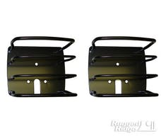 Rugged Ridge 11226.01 Euro Tail Light Guards; Black; 76-06 Jeep CJ/Wrangler YJ/TJ