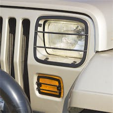 Rugged Ridge 11230.02 Euro Guard Set; Headlight and Turn Signal; 87-95 Jeep Wrangler YJ