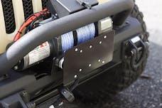 Rugged Ridge 11238.07 License Plate Mounting Bracket for Hawse Fairlead