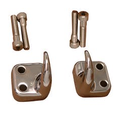 Rugged Ridge 11303.01 Front Tow Hooks, Chrome