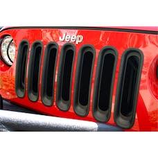 Rugged Ridge 11306.30 Grille Inserts; Black; 07-17 Jeep Wrangler JK