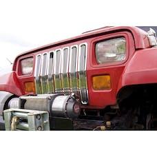 Rugged Ridge 11401.01 Billet Grille Inserts; Chrome; 87-95 Jeep Wrangler YJ