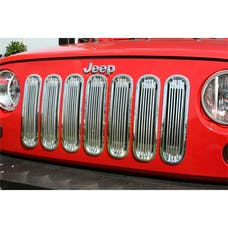 Rugged Ridge 11401.20 Billet Grille Insert, Polished Aluminum