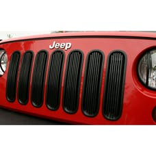 Rugged Ridge 11401.30 Billet Grille Insert; Black; 07-17 Jeep Wrangler JK