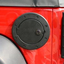 Rugged Ridge 11425.06 Locking Gas Cap Door; Black Aluminum; 07-17 Jeep Wrangler JK