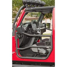 Rugged Ridge 11509.10 Front Tube Doors; Textured Black; 07-17 Jeep Wrangler JK