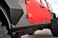 Rugged Ridge 11615.10 Steel Body Armor Cladding; 07-17 Jeep Wrangler Jku