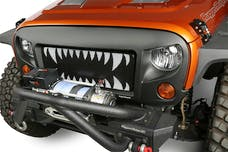 Rugged Ridge 12034.24 Spartan Grille Insert; Land Shark; 07-17 Jeep Wrangler JK