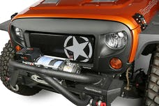 Rugged Ridge 12034.31 Spartan Grille Kit; Star; 07-17 Jeep Wrangler JK