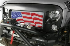 Rugged Ridge 12034.32 Spartan Grille Kit; American Flag; 07-17 Jeep Wrangler JK