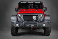 Rugged Ridge 12034.33 Spartan Grille Kit; Skull; 07-17 Jeep Wrangler JK