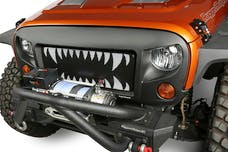 Rugged Ridge 12034.34 Spartan Grille Kit, Land Shark