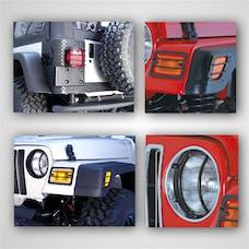 Rugged Ridge 12495.02 Euro Guard Light Kit; 97-06 Jeep Wrangler TJ