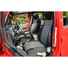 Rugged Ridge 13214.09 Neoprene Front Seat Covers; Black/Gray; 07-10 Jeep Wrangler JK