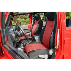 Rugged Ridge 13214.53 Neoprene Front Seat Covers; Black/Red; 07-10 Jeep Wrangler JK