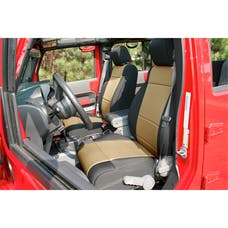 Rugged Ridge 13215.04 Neoprene Front Seat Covers; Black/Tan; 11-17 Jeep Wrangler JK
