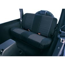 Rugged Ridge 13262.01 Neoprene Rear Seat Covers; Black; 80-95 Jeep CJ/Wrangler YJ