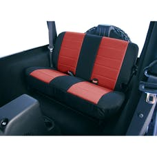 Rugged Ridge 13262.53 Neoprene Rear Seat Covers; Red; 80-95 Jeep CJ/Wrangler YJ
