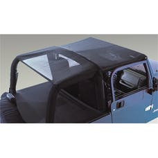 Rugged Ridge 13578.01 Mesh Header Roll Bar Top; 97-06 Jeep Wrangler TJ